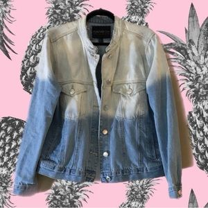 Ombré relaxed fit jean jacket, Forever 21 plus